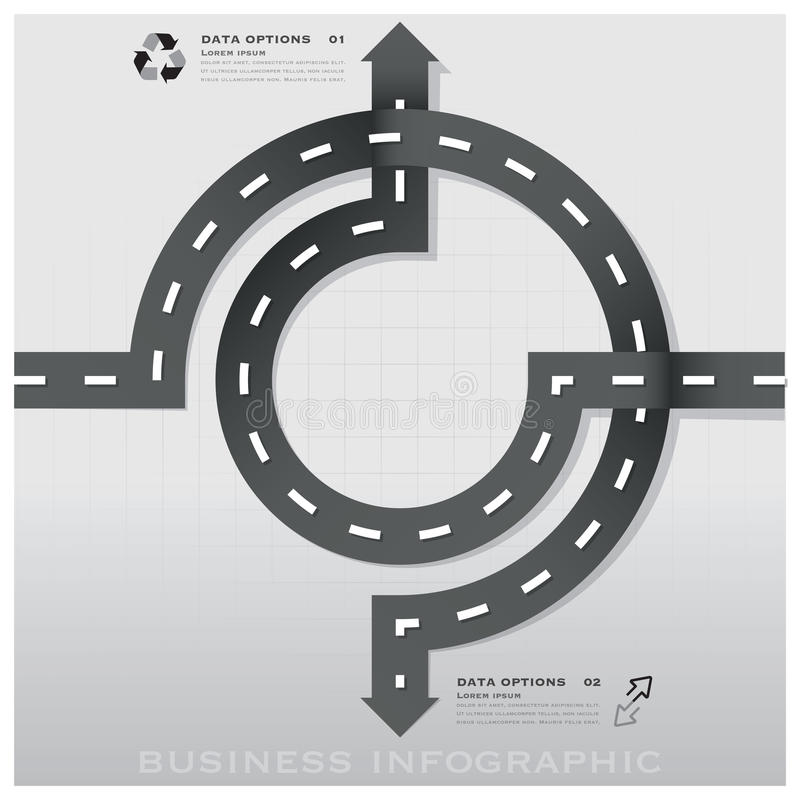 Straßen-und Straßen-Verkehrszeichen-Geschäft Infographic-Design Templat lizenzfreie abbildung
