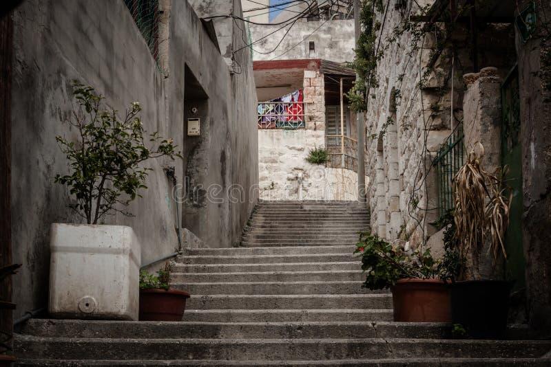 Straßen von altem Nazaret stockfoto