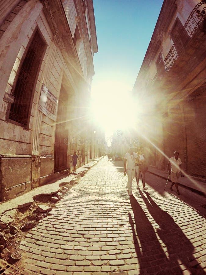 Straßen von alter Havana Cuba lizenzfreies stockbild