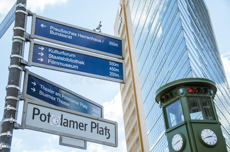 Straßen von Berlin stockbild