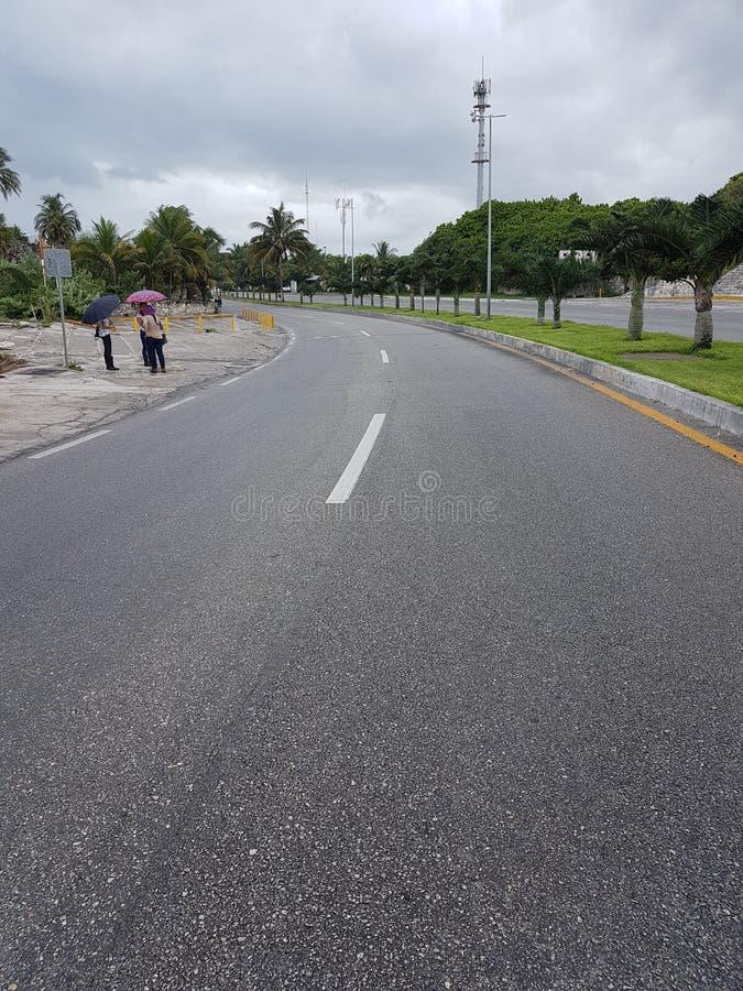 Straßen von Cancun lizenzfreie stockbilder