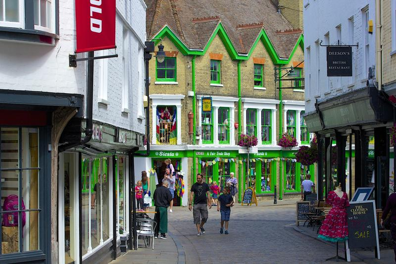 Straßen von Canterbury, Großbritannien stockfoto