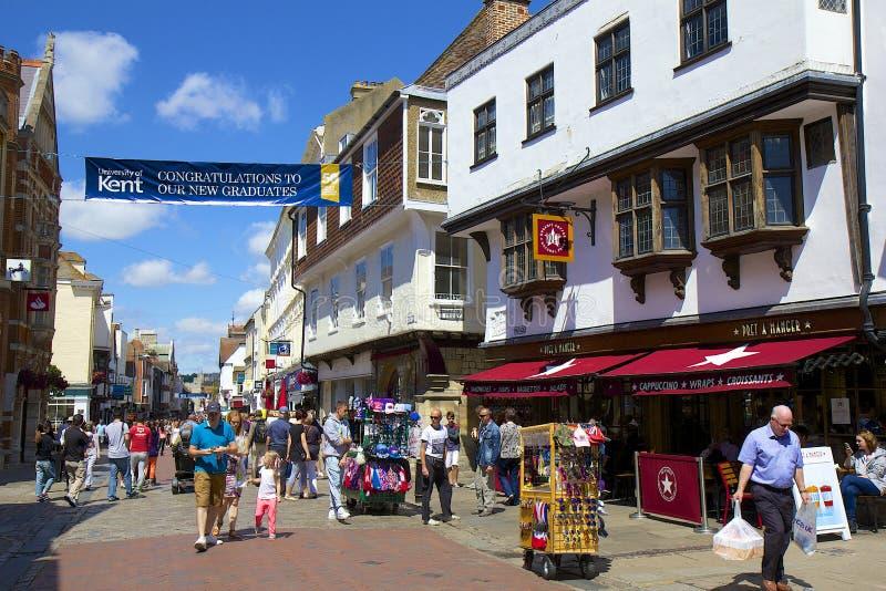Straßen von Canterbury, Großbritannien lizenzfreies stockfoto