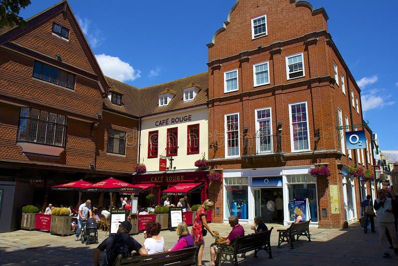 Straßen von Canterbury, Großbritannien stockfotografie