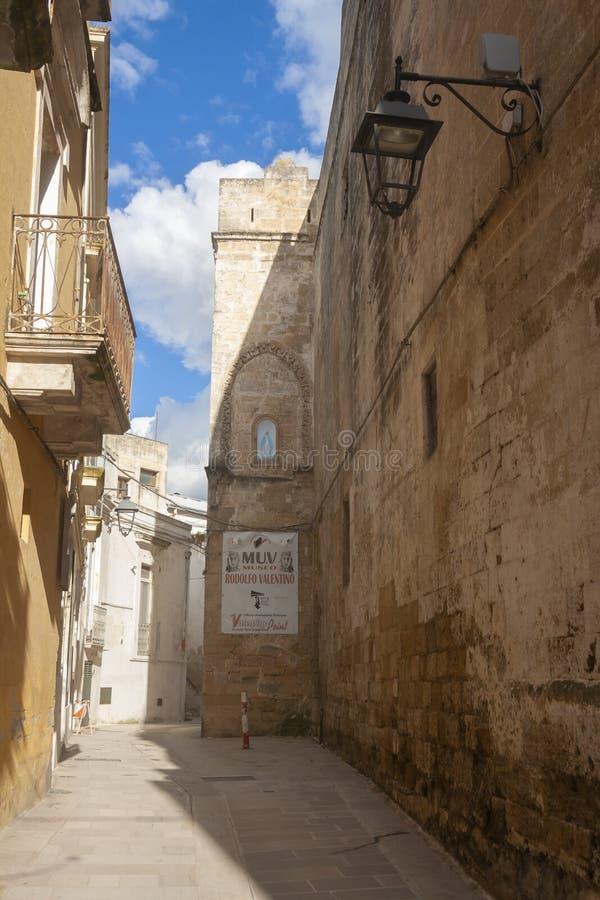 Straßen von Castalaneta lizenzfreie stockfotos