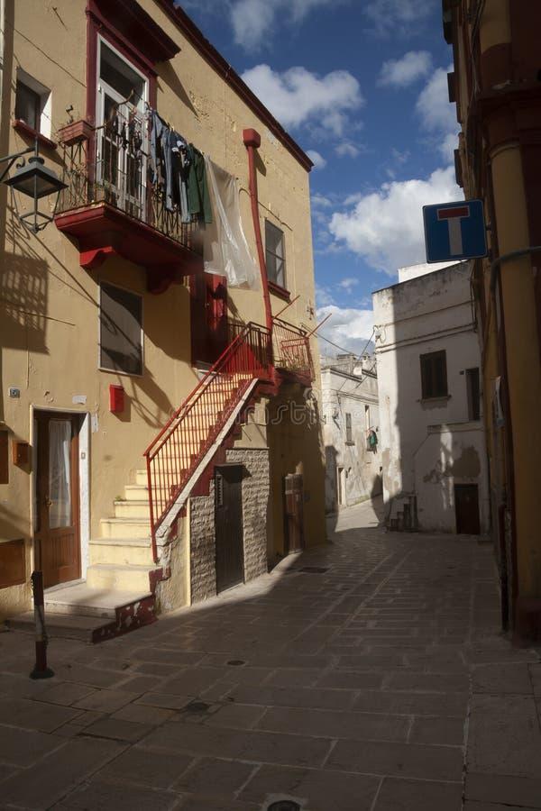 Straßen von Castallaneta lizenzfreies stockbild