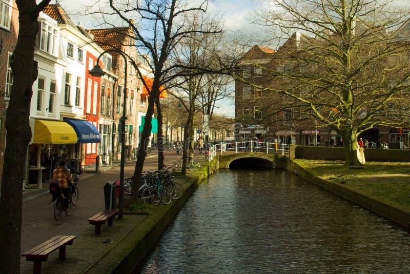 Straßen von Delft lizenzfreie stockfotos