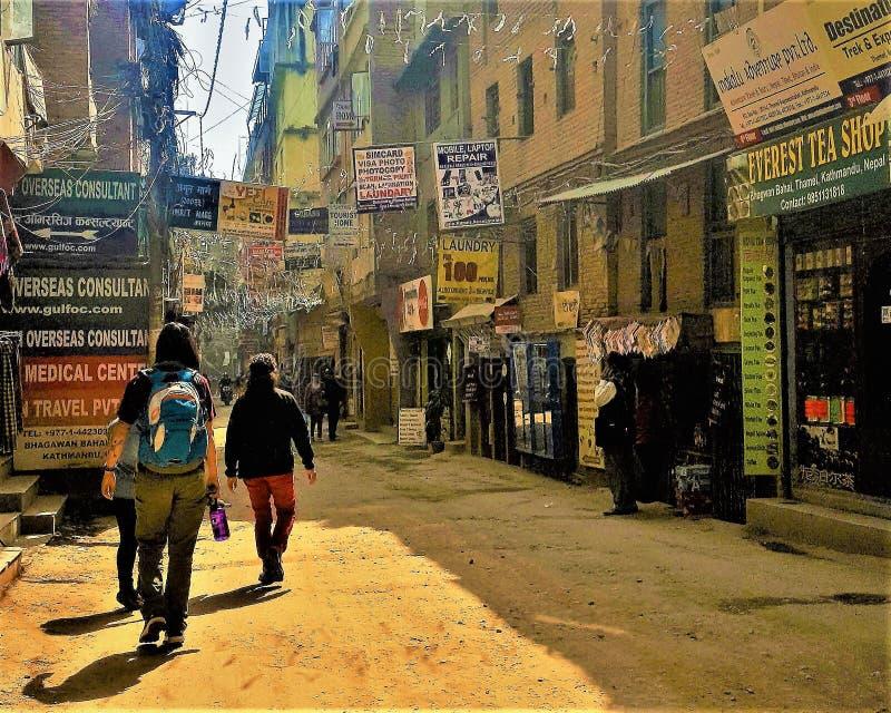 Straßen von Kathmandu, Nepal lizenzfreie stockfotos