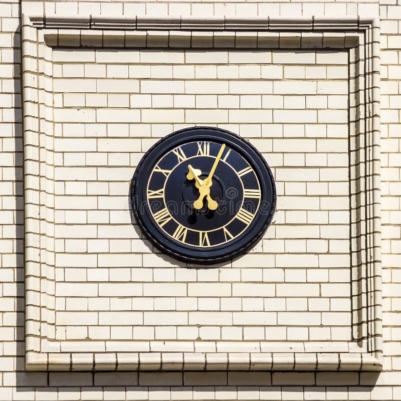 Straßen von London, Uhr stockfoto