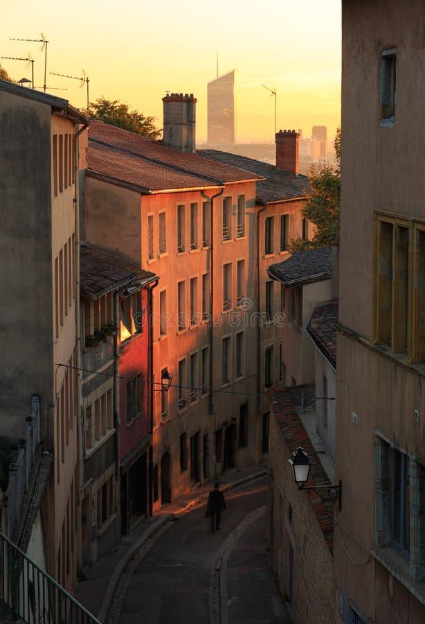 Straßen von Lyon stockbild
