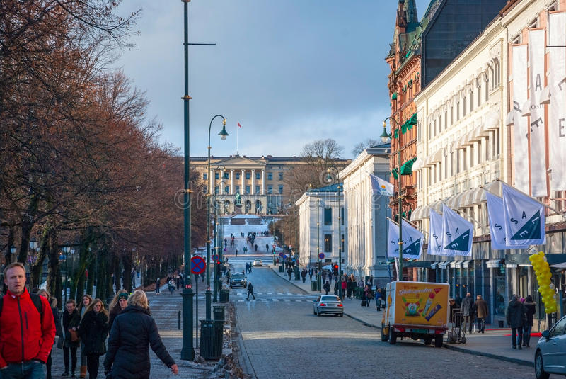 Straßen von Oslo, Norwegen stockbilder