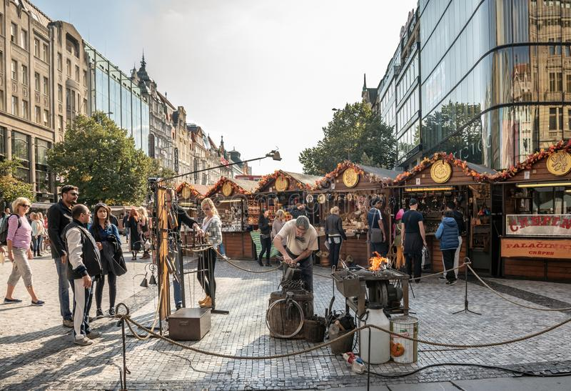 Straßen von Prag, die Hauptstadt der Tschechischen Republik stockfotografie