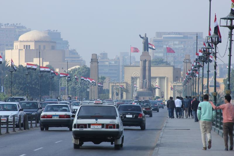 Straßenansicht Ägyptens Kairo lizenzfreies stockfoto