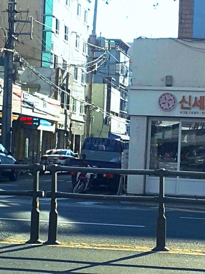 Straßenansicht Daegu lizenzfreie stockfotos