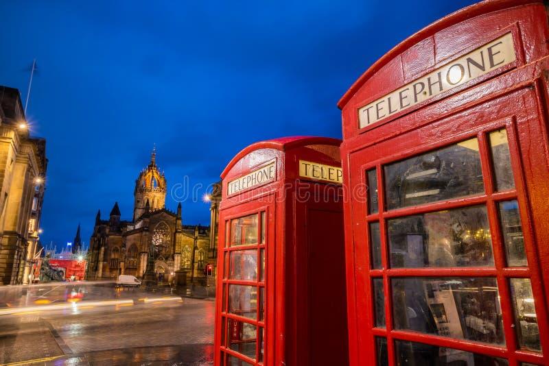 Straßenansicht der historischen königlichen Meile, Edinburgh stockfotos