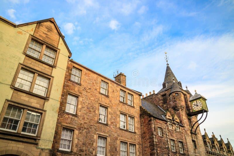 Straßenansicht der historischen königlichen Meile, Edinburgh lizenzfreie stockfotografie