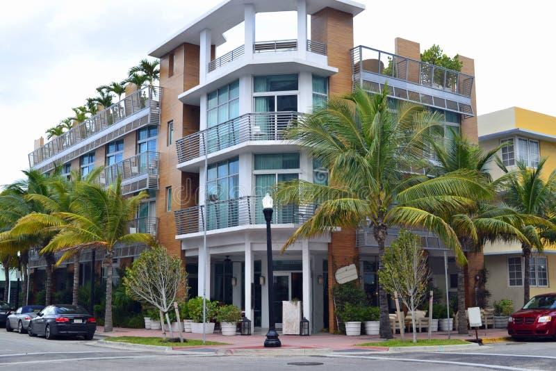 Straßenansicht Südstrand, Miami stockfotografie