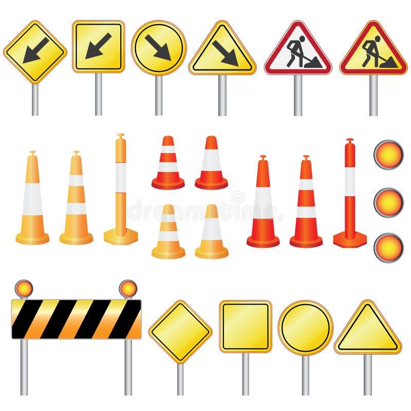 Straßenarbeit. lizenzfreie abbildung