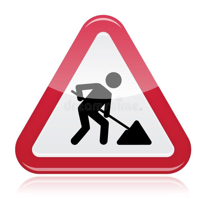 Straßenarbeitszeichen, im Bau stock abbildung