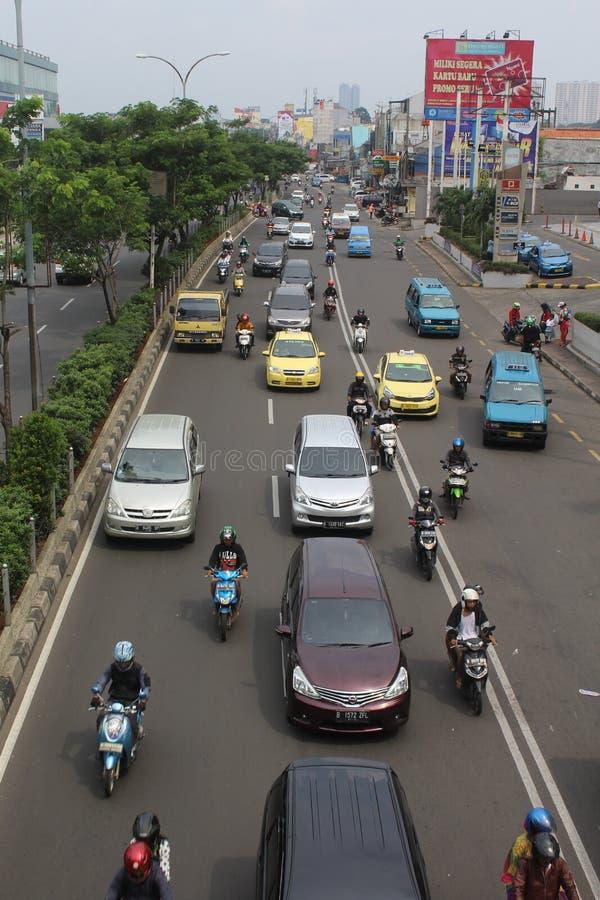 Straßenatmosphäre margonda depok jawabarat lizenzfreie stockfotografie