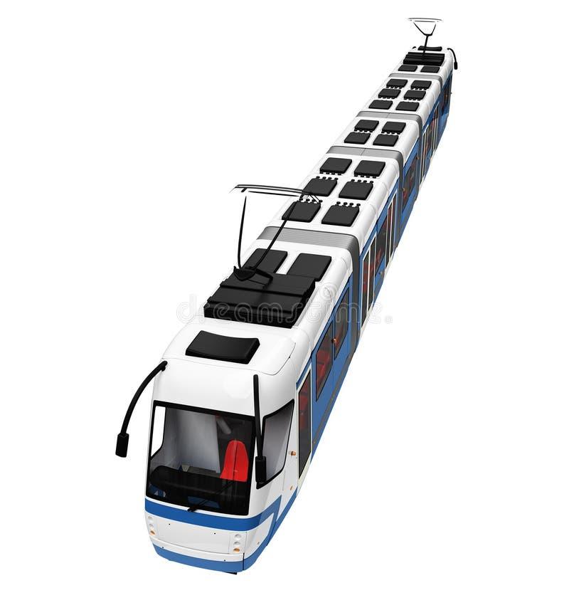 Straßenbahn über Weiß lizenzfreie abbildung