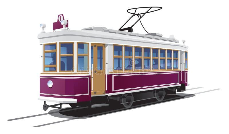 Straßenbahn vektor abbildung