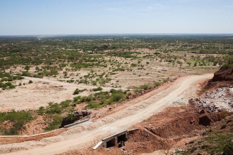 Straßenbau in einem ländlichen Gebiet lizenzfreies stockfoto