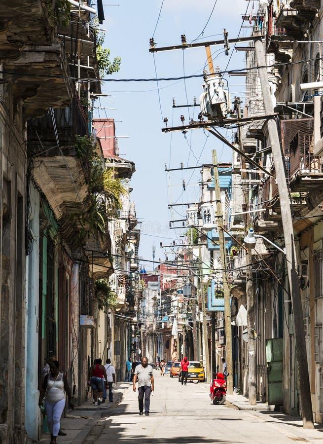 Straßenbild in altem Havan Kuba stockfotos
