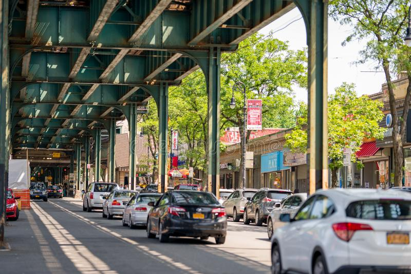 Straßenbild Bronx NYC stockfoto