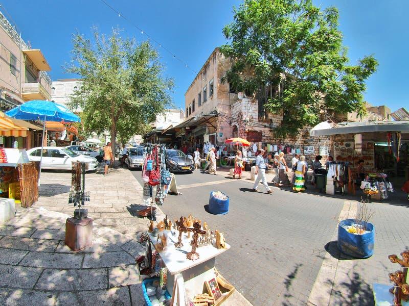 Straßenbild der Stadt von Nazaret lizenzfreie stockbilder