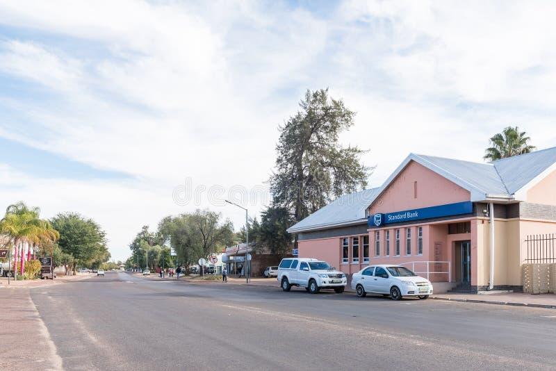 Straßenbild in Keimoes stockfoto