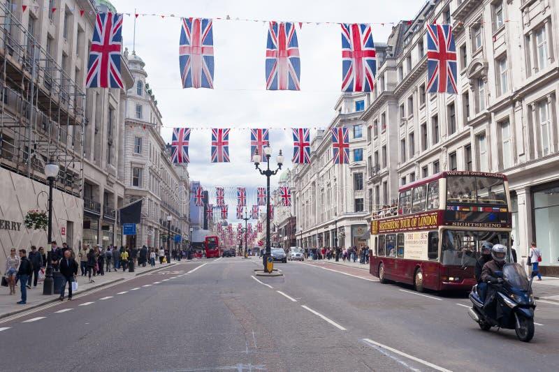 Straßenbild Londons Oxford stockbilder