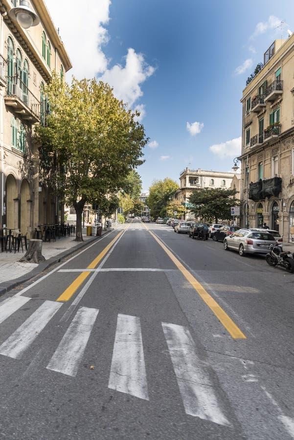 Straßenbild Messinas Sizilien stockbild