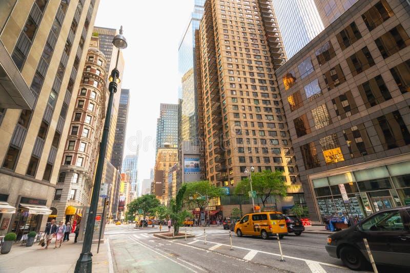 Straßenbild, Midtown Manhattan New York City lizenzfreie stockbilder