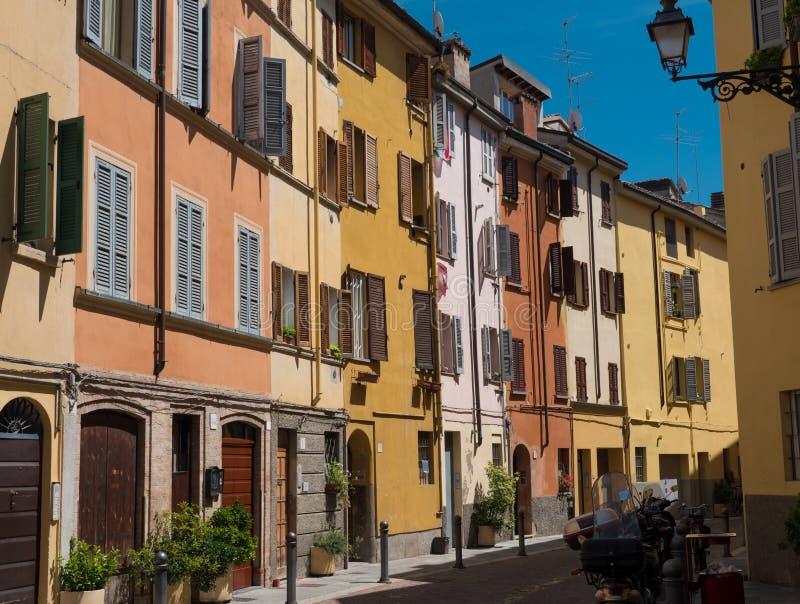 Straßenbild in Parma, Italien stockfotos
