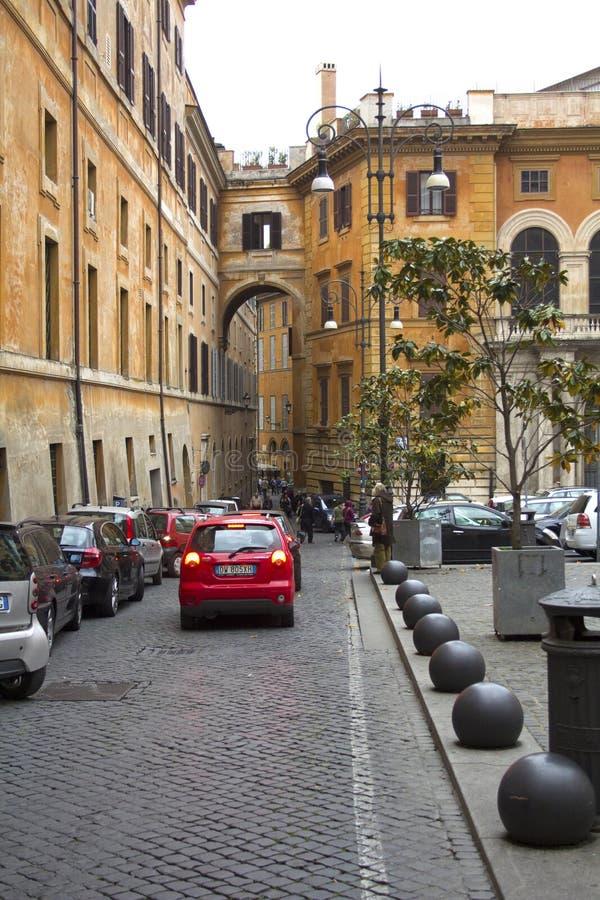 Straßenbild in Rom, Lazio, Italien lizenzfreie stockfotos