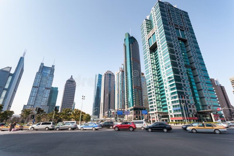 Straßenbild in Shanghai lizenzfreies stockfoto