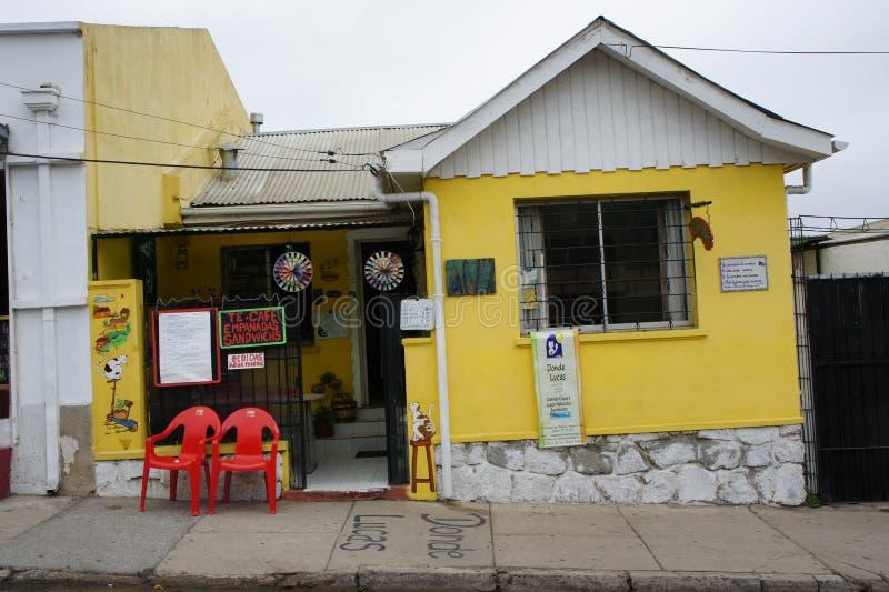 Straßenbild in Valparaiso-Paprika stockfotografie