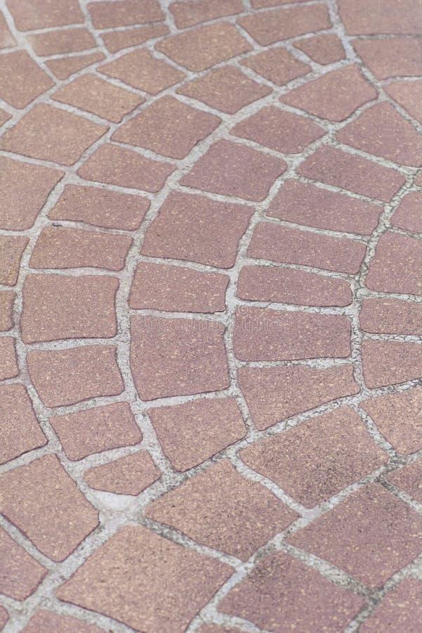 Straßenbodenfliesen stockbild