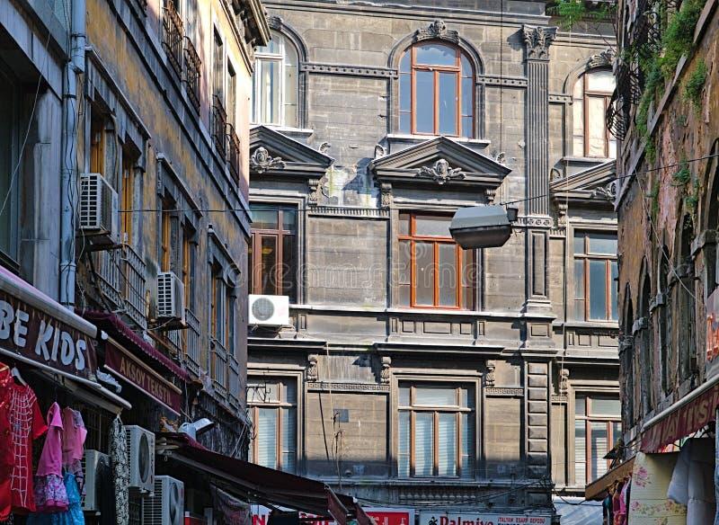 Straßendetail, das oben schaut stockbild