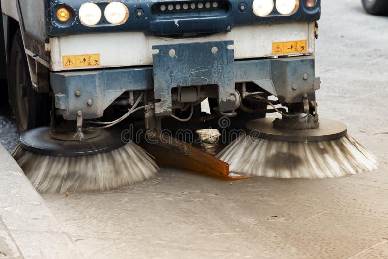 Straßenfeger-Reinigung stockfotos