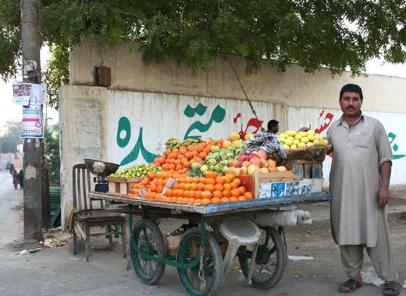 Straßenhändler stockfoto