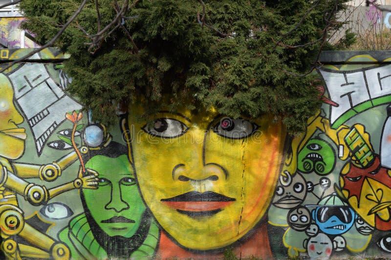 Straßenkunst in der Tschechischen Republik stockfotografie