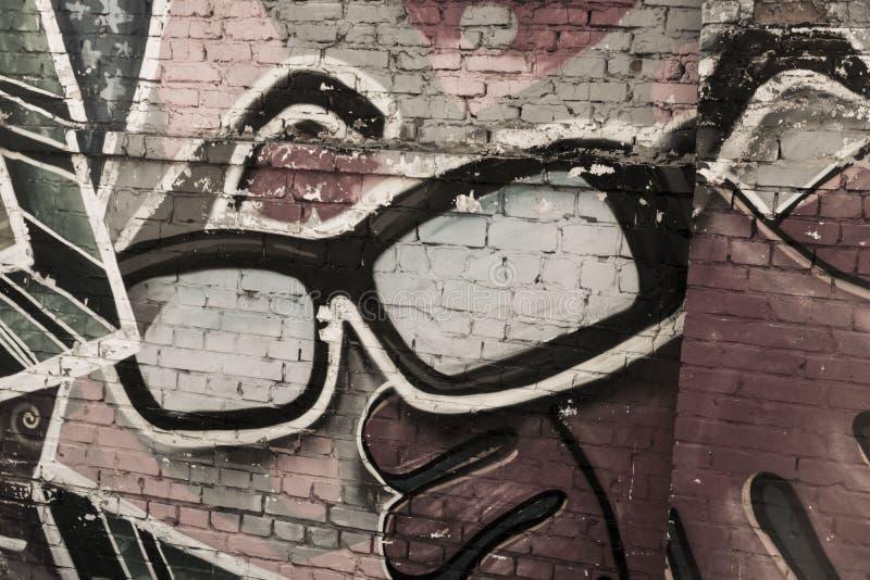Straßenkunst ein Gläser stockfoto