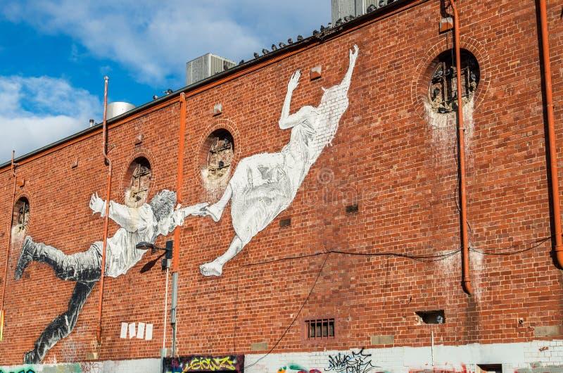 Straßenkunst in Footscray, Australien lizenzfreie stockbilder