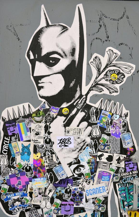 Straßenkunst Montreal Batman vektor abbildung