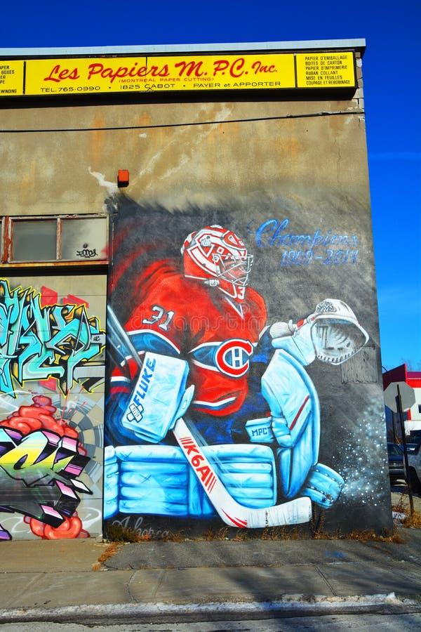 Straßenkunst Montreal Carey Price lizenzfreies stockfoto