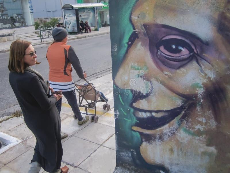Straßenkunstkonzept Graffiti auf der Wand Straße angeredet durch Wandbild Straßenkunst backround stockbilder
