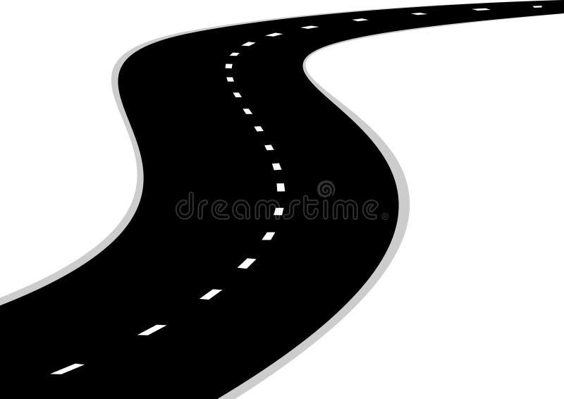 Straßenkurve lizenzfreie abbildung