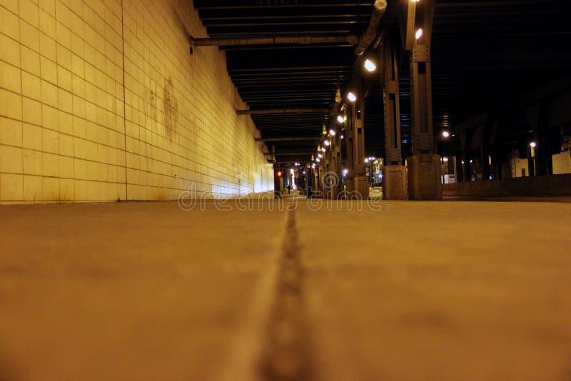 Straßenlaterne auf einem Bürgersteig in Chicago Illinois lizenzfreies stockfoto